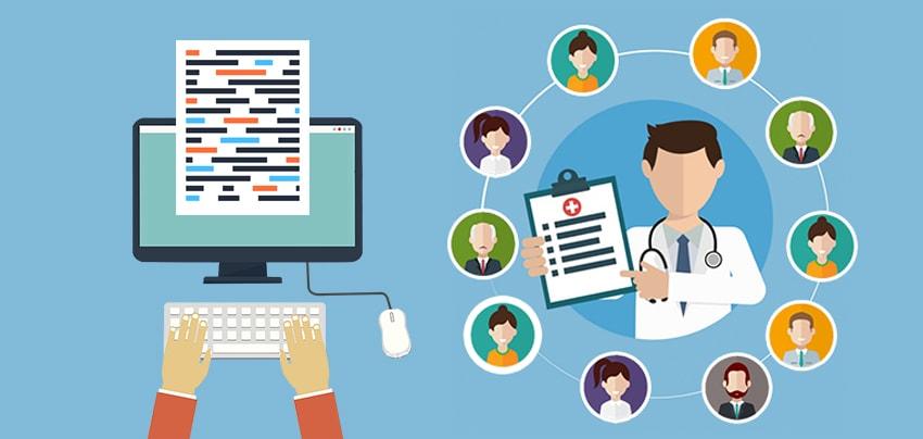 Healthcare BPO Outsourcing Innovative vector